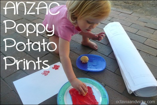 ANZAC Poppy Potato Prints