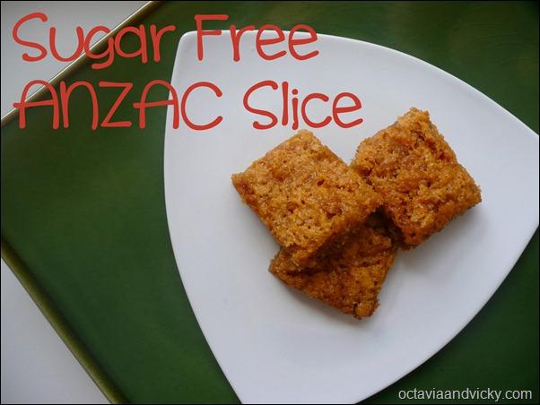 Sugar Free ANZAC Slice