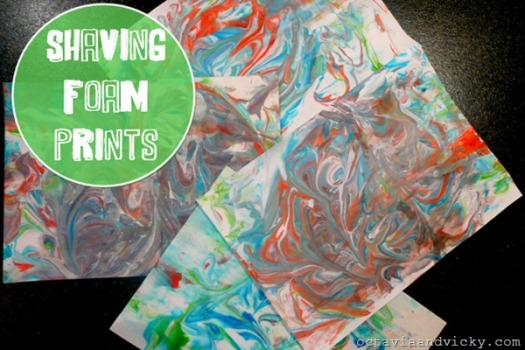 shaving foam prints
